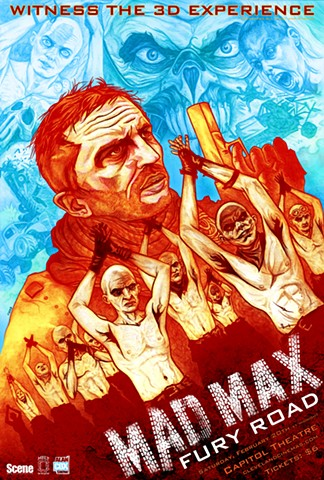 Mad Max Fury Road poster art CHOD