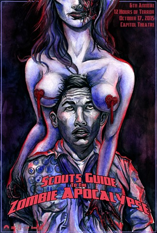 """Scouts Guide to the Zombie Apocalypse"" Print"