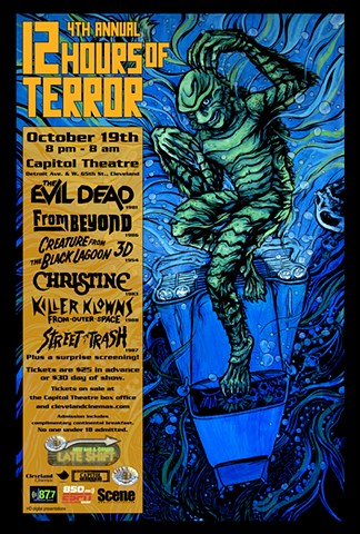 Cleveland Cinemas 12 Hours of Terror Creature from the Black Lagoon art CHOD