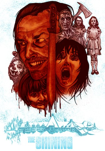 Shining, Chod, metroorageart, chod artist, alternative movie poster, stephen king
