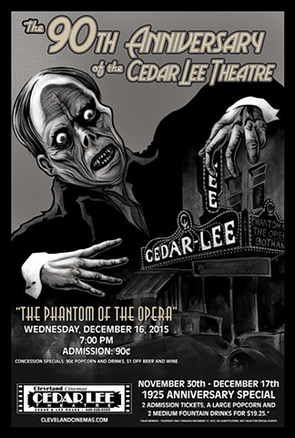 Cedar Lee Phantom of the Opera poster art CHOD