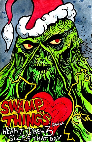 Swamp Thing / The Grinch - Christmas Sketch Cover