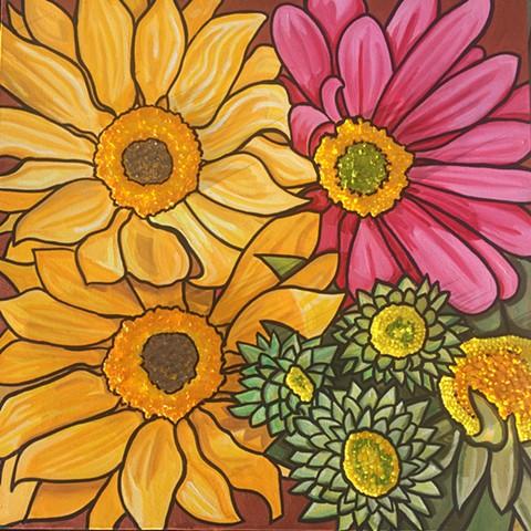 Gerber Daisies & Chrysanthemums