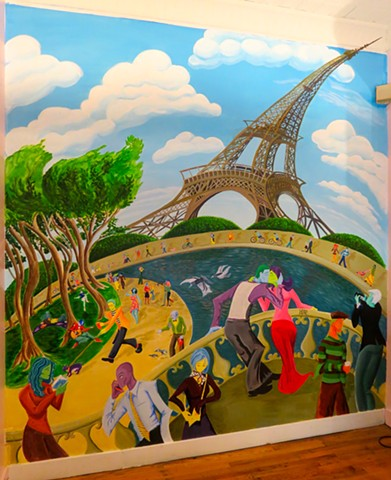 Jour Ensoleillé Sous La Tour Eiffel