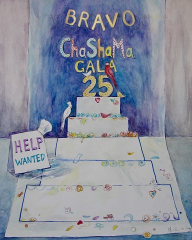 Help Wanted - A proposal sketch for the ChaShaMa 25th Anniversary Gala