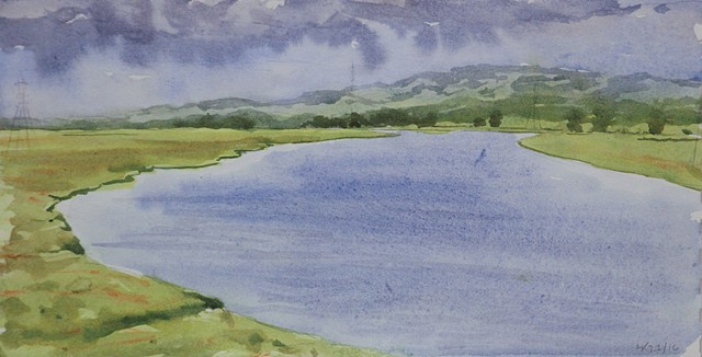 Sketch for Petaluma River