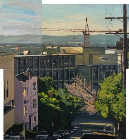 ryan m reynolds reed crane painting urban landscape