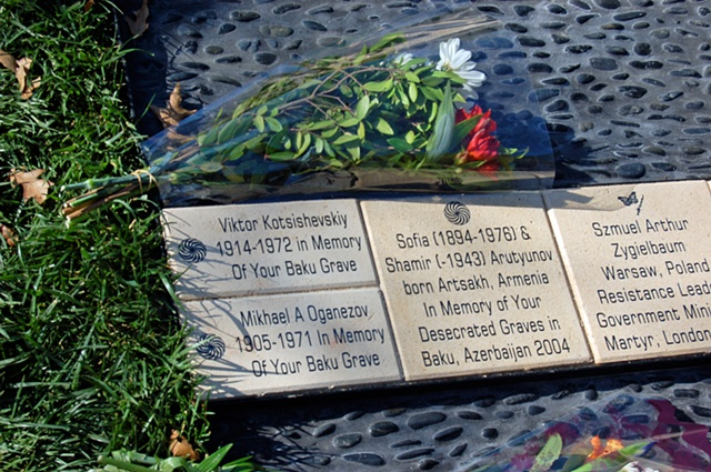 Holocaust and Genocide Memorial Grove at Sonoma State University by Jann Nunn