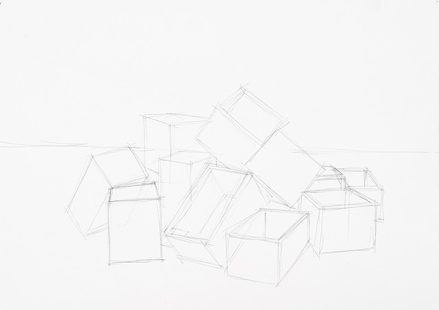 box set 3 graphite on paper