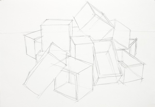 box study  3 pencil on paper 42 x 29.7 cm
