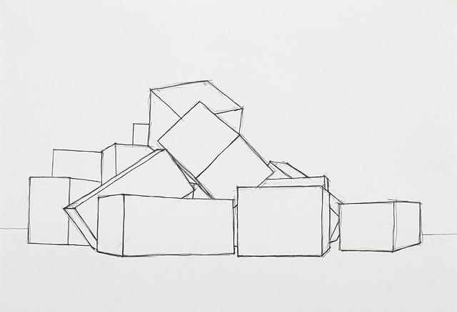 box study  2 pencil on paper 42 x 29.7 cm