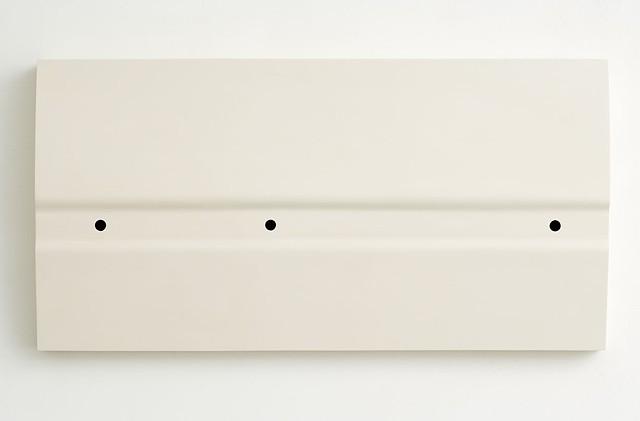 Flag VII   Plywood, Masonite, Polymer Resin, Gesso 60 x 118 x 11 cm