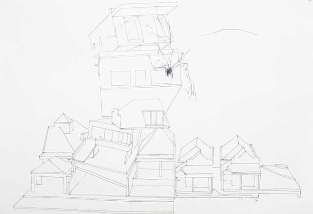 mashup study  7 pencil on paper 42 x 29.7 cm