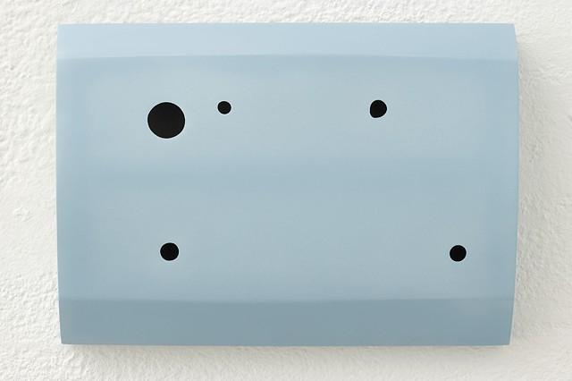 Flag VIII   Plywood, Masonite, Polyurethane, Automotive Acrylic 21.5 x 30 x 5 cm