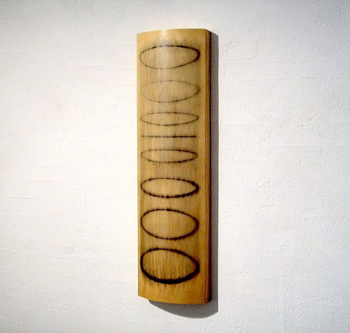 Punt II   Plywood, Pine, Charcoal, Estapol 110 x 31 x 11 cm