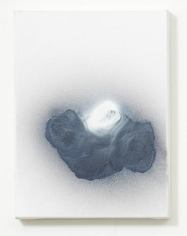apathy 1 enamel on canvas 41 x 30.5 x 4 cm