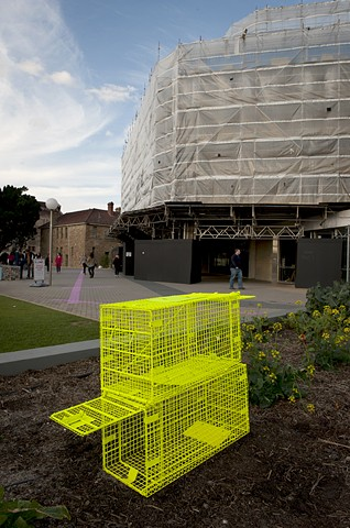 animal traps auto lacquer on steel traps Perth Cultural Centre dimensions variable