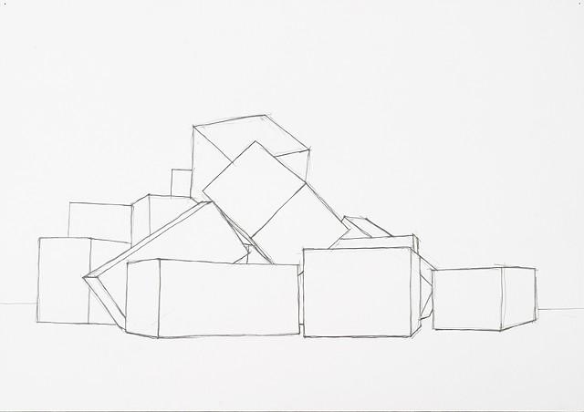 box set 6 graphite on paper