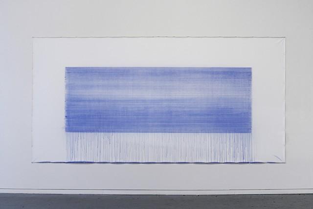 latitude chalk and acrylic binder on canvas 214 x 450 cm