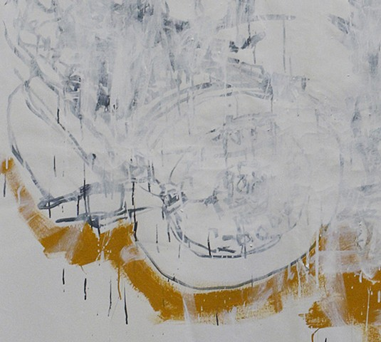 pre-tension (detail) graphite and auto acrylic on canvas 214 x 353 cm