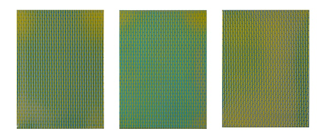 register II auto acrylic and enamel on canvas triptych, each panel 40.5 x 30.5 x 4 cm produced for the MHF 20 commission