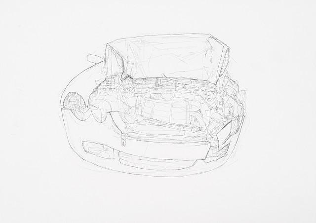 collision 3 graphite on paper