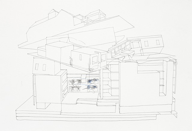 mashup study  4 pencil on paper 42 x 29.7 cm