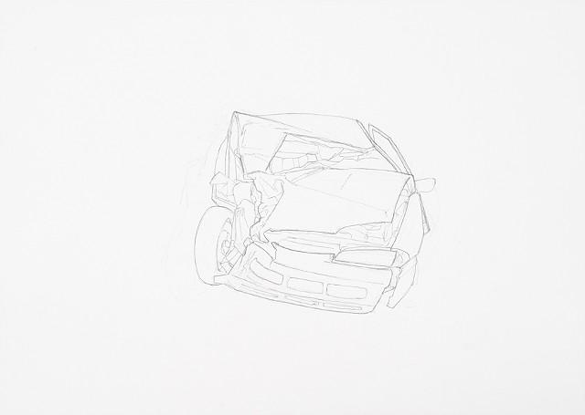 collision 4 graphite on paper