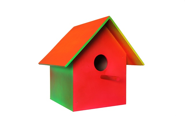 birdhouse model auto lacquer on wood  34 x 39 x 41 cm