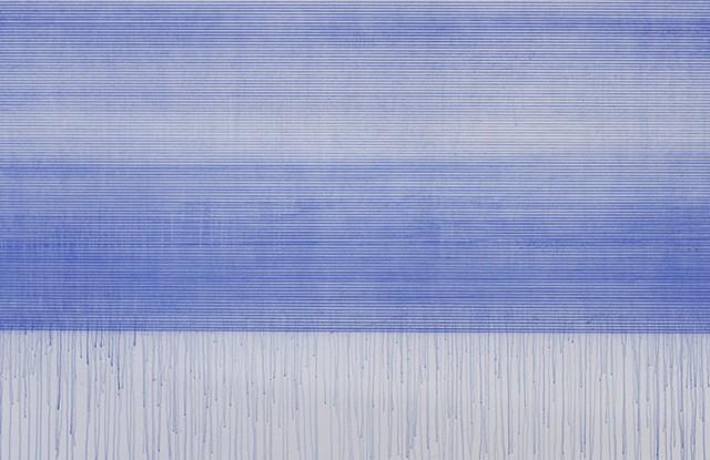 latitude (detail) chalk and acrylic binder on canvas 214 x 450 cm