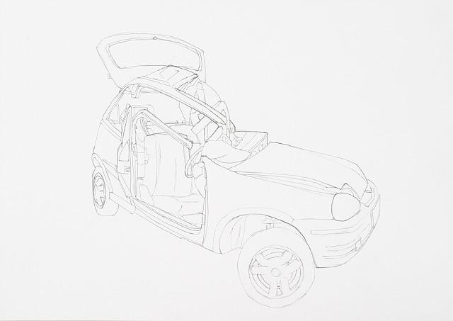 collision 6 graphite on paper