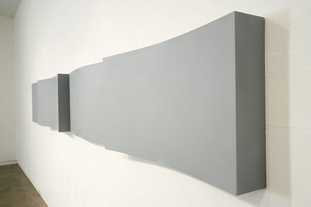 Section   Plywood, Masonite, Polymer Resin, Automotive Acrylic 60 x 464 x 15 cm