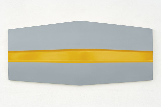 Caterpillar   Plywood, Masonite, Polymer Resin, Automotive Acrylic 75 x 165 x 8 cm