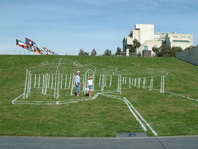 love is blind  line marking paint Reconciliation Place Canberra