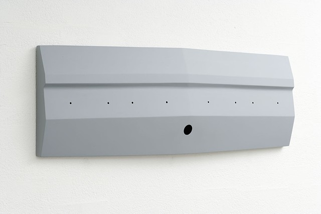 Flag IV  2003 Plywood, Polymer Resin, Automotive Acrylic 39 x 120 x 10 cm