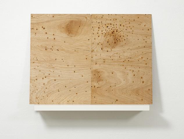 Rorschach II   plywood, shelf 94 x 120 x 26 cm overall
