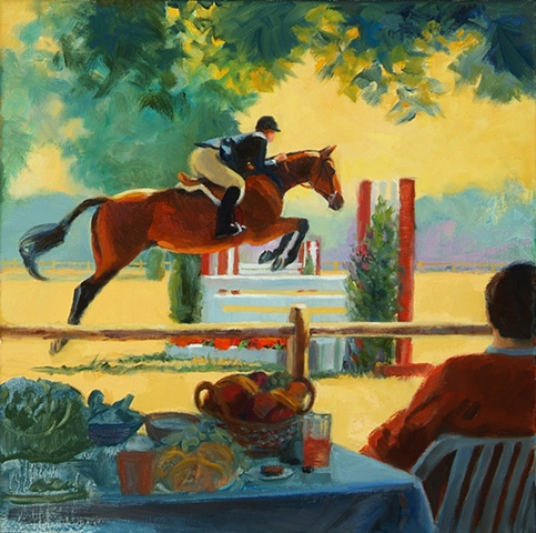This painting was created from a photo I took at a Deep Run Hunt Club horse show in Virginia.