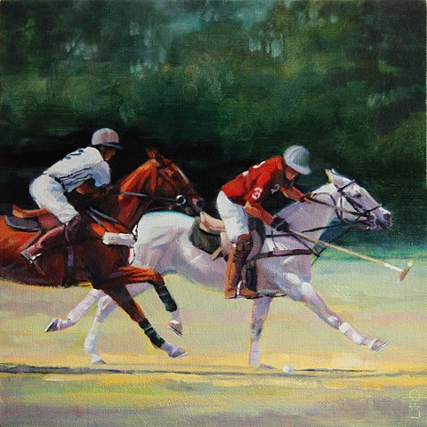 Two polo players galloping at full speed on their horses. [pinterest]