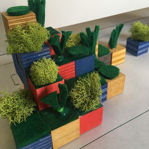 Milk crate garden model (detail)