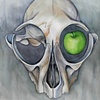 Skull With Green Apple