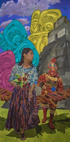 CEDC Dance Mural: Guatemala and Mayan