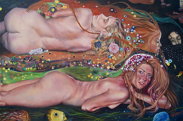 Master Copy Gustav Klimt's Water Serpents