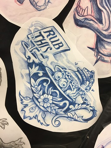 Rub This Lamp Flash Design
