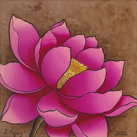lotus painting color j majury