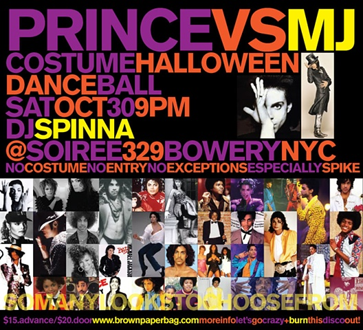 Prince vs. MJ party announcement