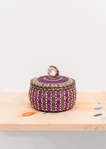 Sarah Sockbeson, Fancy Basket with Lid and Ring
