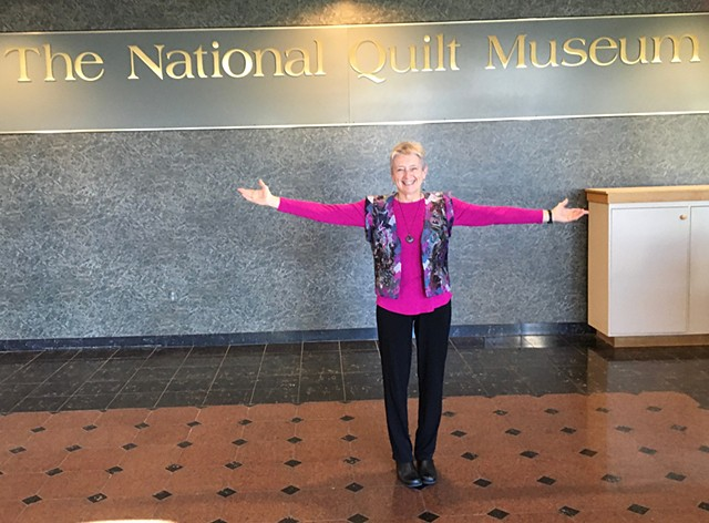 Pat Kroth at National Quilt Museum Solo Exhibit