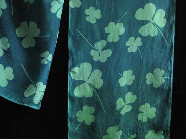 Hand-dyed Sun-Printed Silk