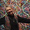 Artist, Pat Kroth with Solo Exhibit South Wall