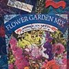 30  Seed Packet: Flower Garden Mix Fiber: Framed Contemporary Art Quilt